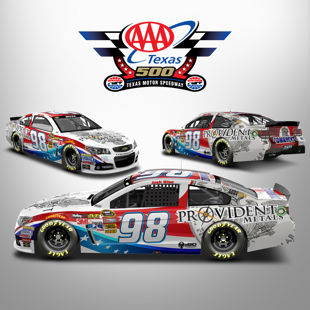 Provident s final nascar paint scheme of 2014 texas for Nascar tickets for texas motor speedway
