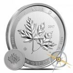 10 oz Silver Canadian Magnificent Maple Leaves