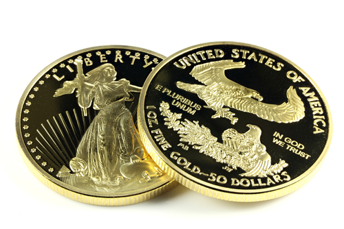 1 ounce American gold eagle bullion coins