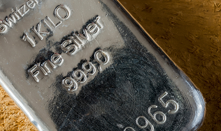 1 kilo silver bullion bar