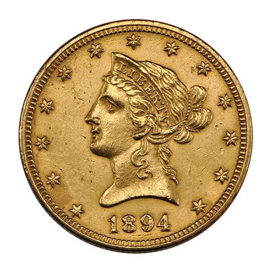 1894 10 dollar eagle gold coin