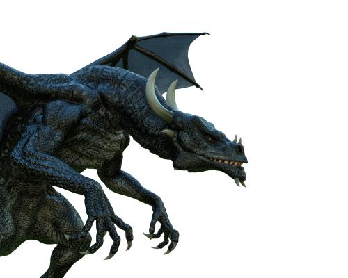 black dragon close up