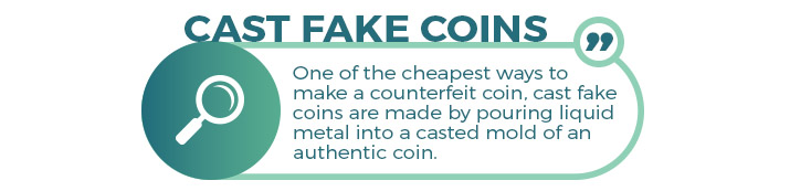 cast fake coins quote