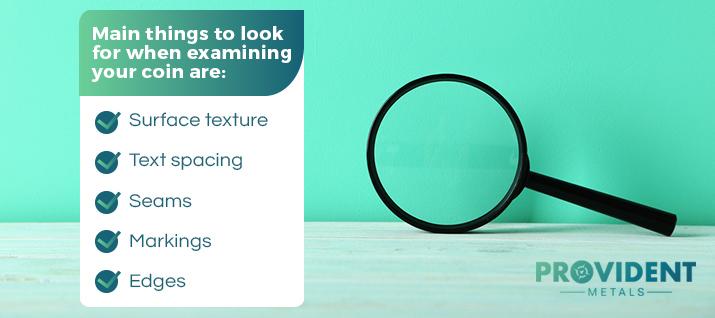 coin visual examination graphic
