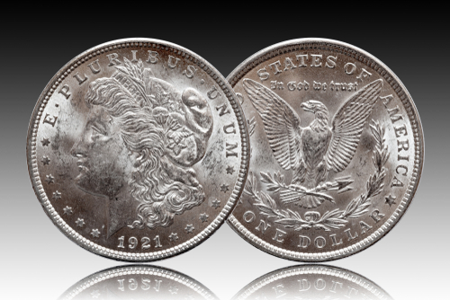 US Morgan Silver Dollar coin