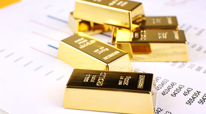 gold bullion on documents