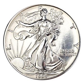 one silver dollar closeup