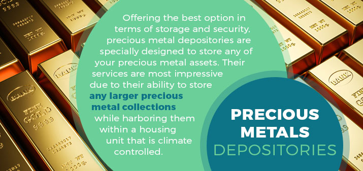 precious metals depositories quote