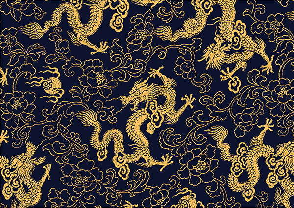 Chinese traditional golden dragon